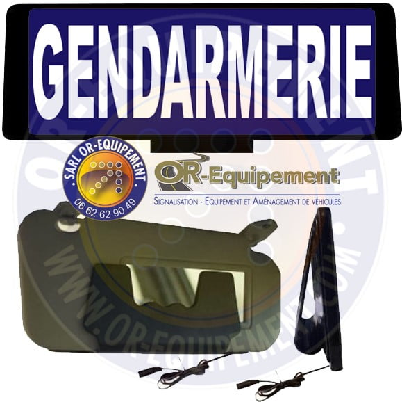 clip lumineux gendarmerie or equipement. Black Bedroom Furniture Sets. Home Design Ideas