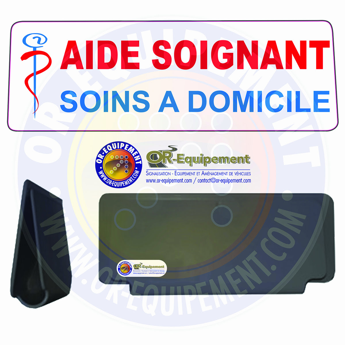 CLIP RETRO-REFLECHISSANT AIDE SOIGNANT SOINS A DOMICILE  Or Equipement