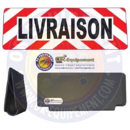 CLIP RETRO-REFLECHISSANT LIVRAISON CHEVRON