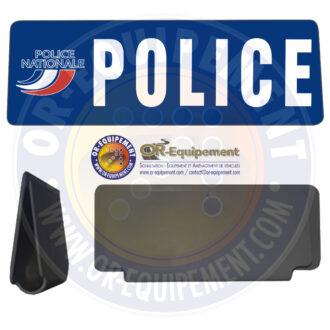 CLIP RETRO-REFLECHISSANT POLICE AVEC LOGO
