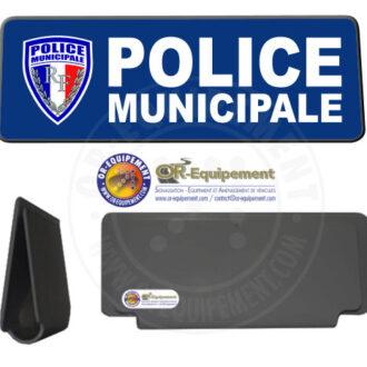 CLIP RETRO-REFLECHISSANT POLICE MUNICIPALE AVEC LOGO