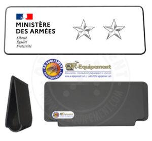 CLIP RETRO-REFLECHISSANT MINISTERE DES ARMEES 2 ETOILES