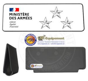 CLIP RETRO-REFLECHISSANT MINISTERE DES ARMEES 3 ETOILES