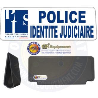 CLIP RETRO-REFLECHISSANT POLICE IDENTITE JUDICIAIRE