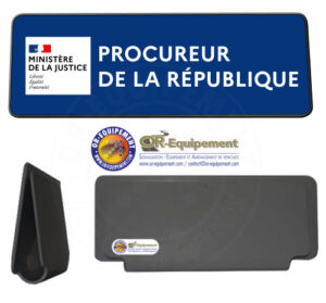 CLIP RETRO-REFLECHISSANT PROCUREUR DE LA REPUBLIQUE