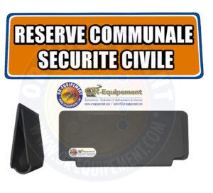 CLIP RETRO-REFLECHISSANT RESERVE COMMUNALE SECURITE CIVILE